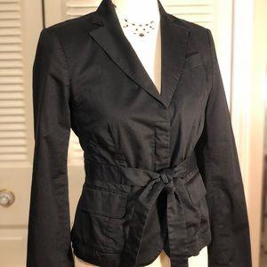 BCBG Maxazaria black jacket with tie waist
